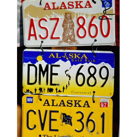 Number Plates for Sale at Antique Store, Anchorage, Alaska Print Wall Art By Richard Cummins](Halloween Stores In Anchorage)