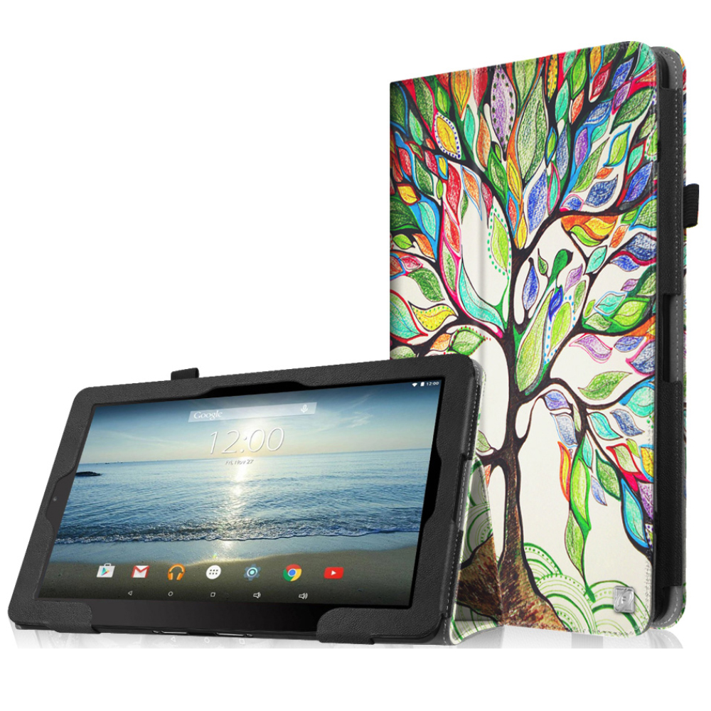 "Fintie RCA 10 Viking Pro / Viking II Case - PU Leather Cover for RCA Viking Pro Viking II 10.1"" Tablet,  Love Tree"