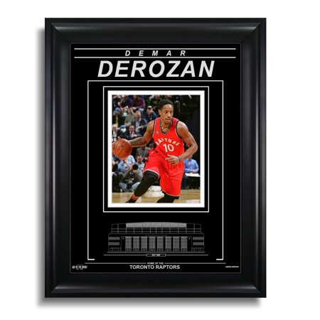Demar Derozan Toronto Raptors Engraved Framed Photo - Action Close-Up - image 1 de 1
