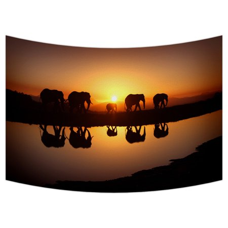 GCKG Elephant Pattern Design Tapestry Wall Hanging,Wall Art, Dorm Decor,Wall Tapestries Size 40x60 inches - image 2 de 2