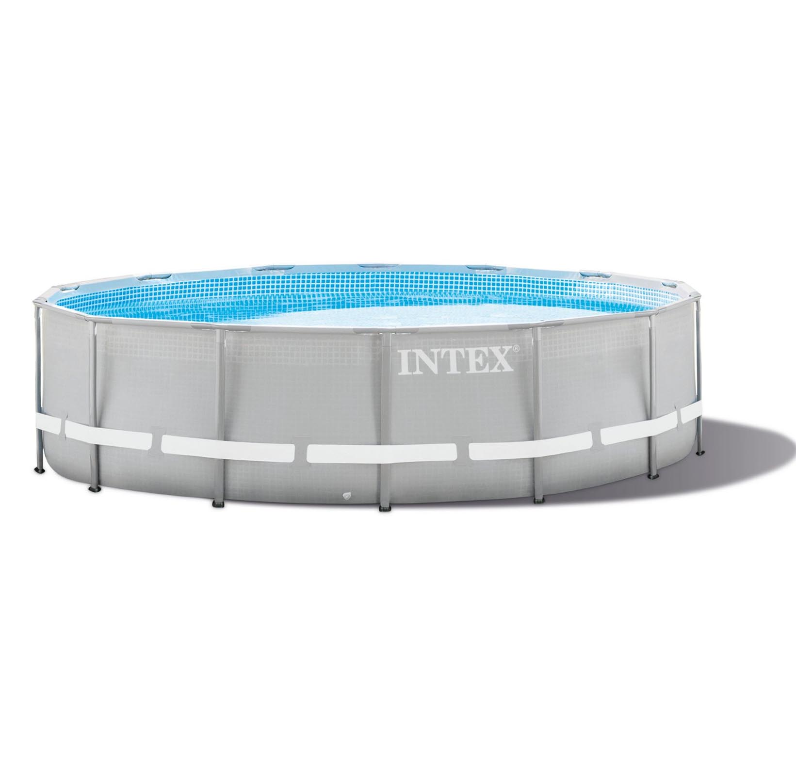 Intex 15 Foot x 48 Inch Ultra Frame Above Ground Swimming Pool Set | 28343EH by