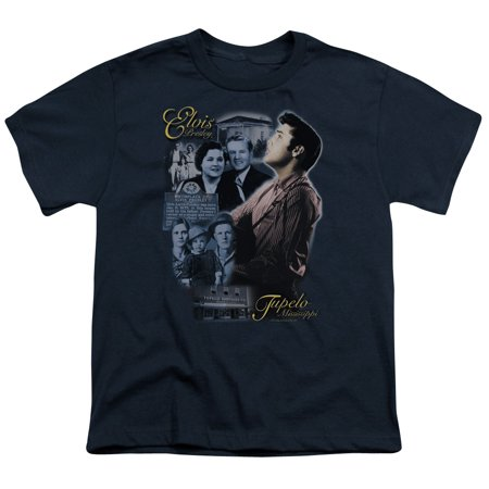 Elvis/Tupelo   S/S Youth 18/1   Navy     Elv169