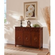 Walnut Wood Contemporary Sideboard Buffet Display Console Table With Storage Cabinet Doors