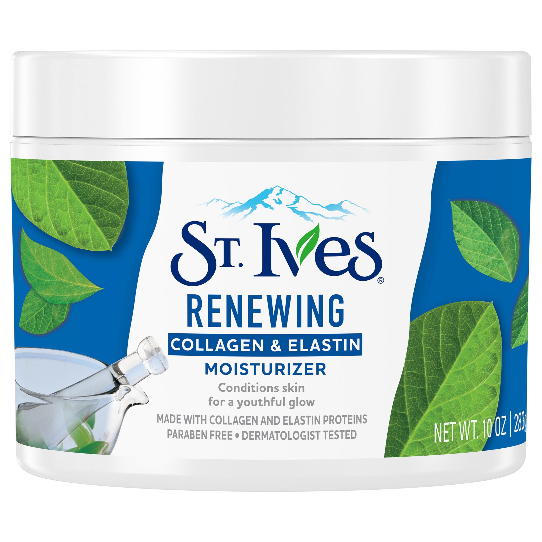 St. Ives Collagen Elastin Facial Moisturizer for Dry Skin, 10 oz