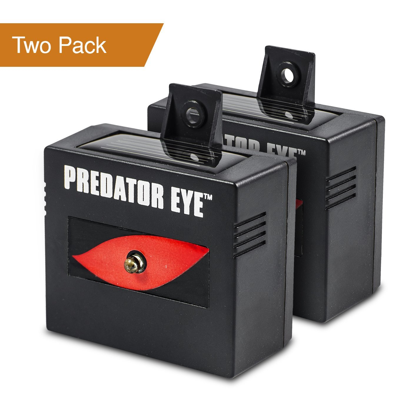 Aspectek l 4600sq ft l Predator Eye Nighttime Outdoor Solar Animal Repeller - 2 Pack, Waterproof, Repellent Predator Light Keeps Nocturnal Animals Away Such as Rat, Mouse, Cat, Bird, Raccoon.