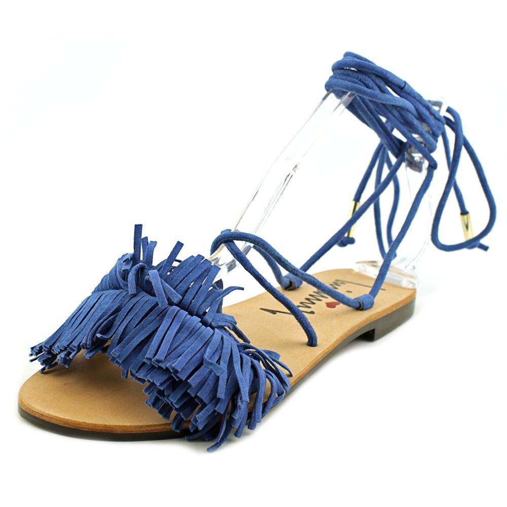 Luichiny Toss Around Open Toe Suede Sandals by Luichiny