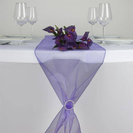 efavormart premium organza table top runner for weddings birthday party banquets decor fit rectangle and round table