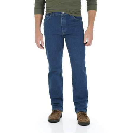 Hugger Fit Denim - Wrangler Men's Regular Fit Jean with Comfort Flex Waistband