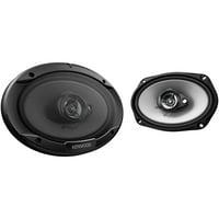 "Kenwood KFC-6966S Sport Series Coaxial Speakers (6"" X 9"", 3 Way, 400 Watts)"