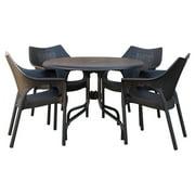 Strata Furniture Delfino Resin Patio Dining Set with Cabridge Chairs