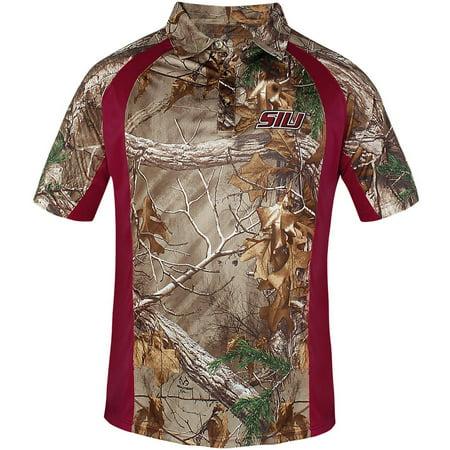 NCAA Southern Illinois Big Men's Poly Polo Shirt, 2XL