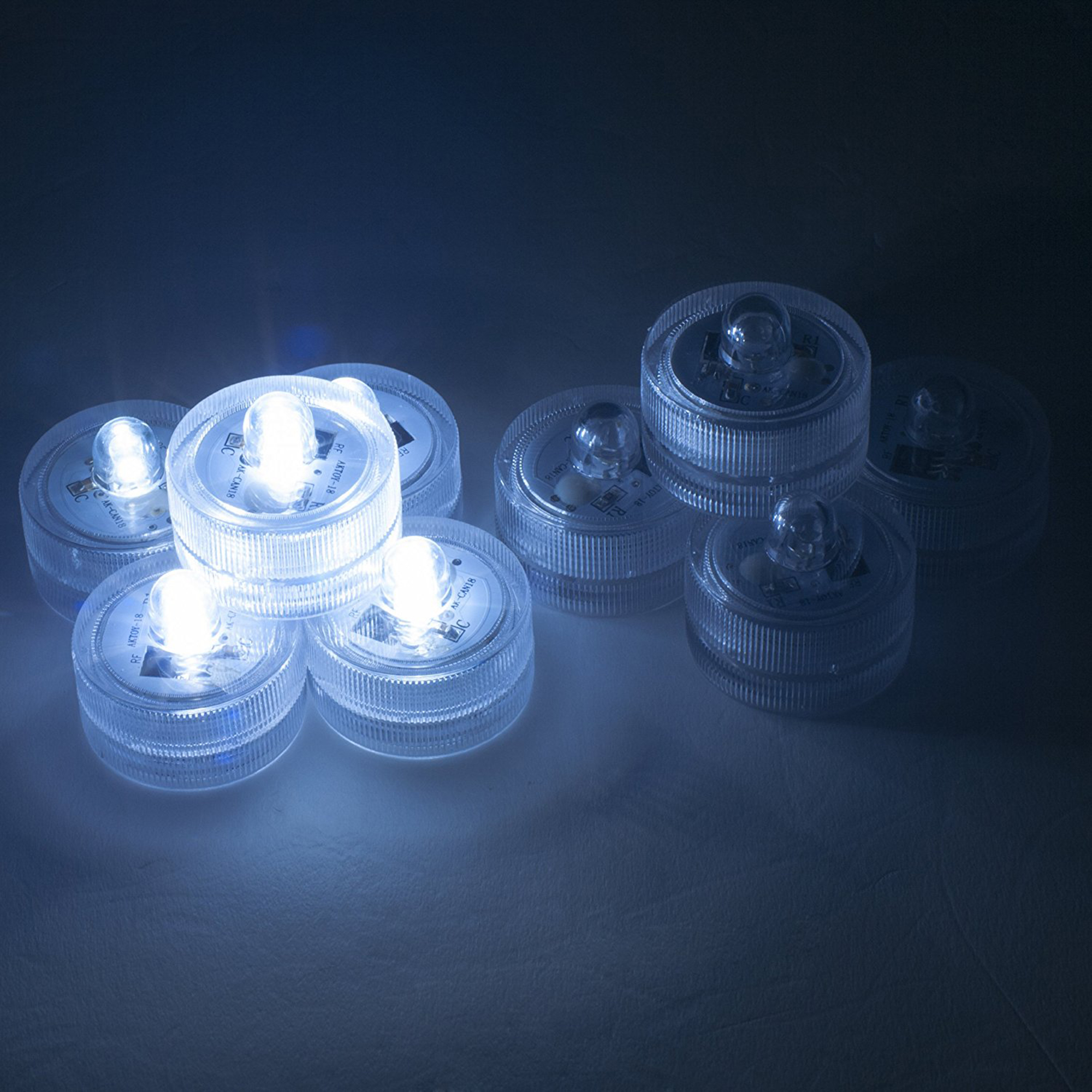 Weanas 36x White LED Submersible Tea Light Tealight Candl...