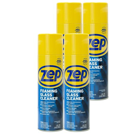 Zep Foaming Glass Cleaner 19 Ounce ZUFGC19 (case of 4) Clings to Dirt, Trusted by Pros Case 19 Ounce Aerosol