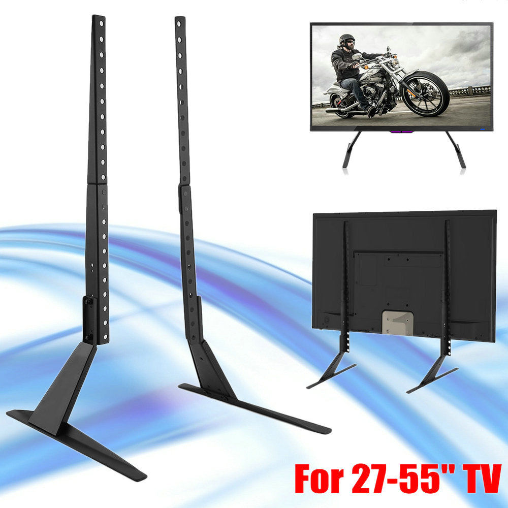 LCD Flat Screen TV Desk Stand Holder Base Rack Fits 27 Inch To 55 Inch TV