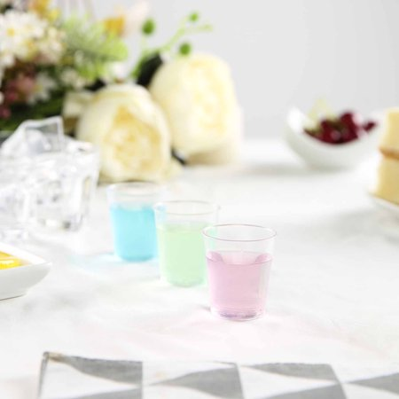BalsaCircle Clear 50 pcs 1 oz Disposable Plastic Shot Glasses - Wedding Reception Party Buffet Catering Tableware - Clear Plastic Shot Glasses