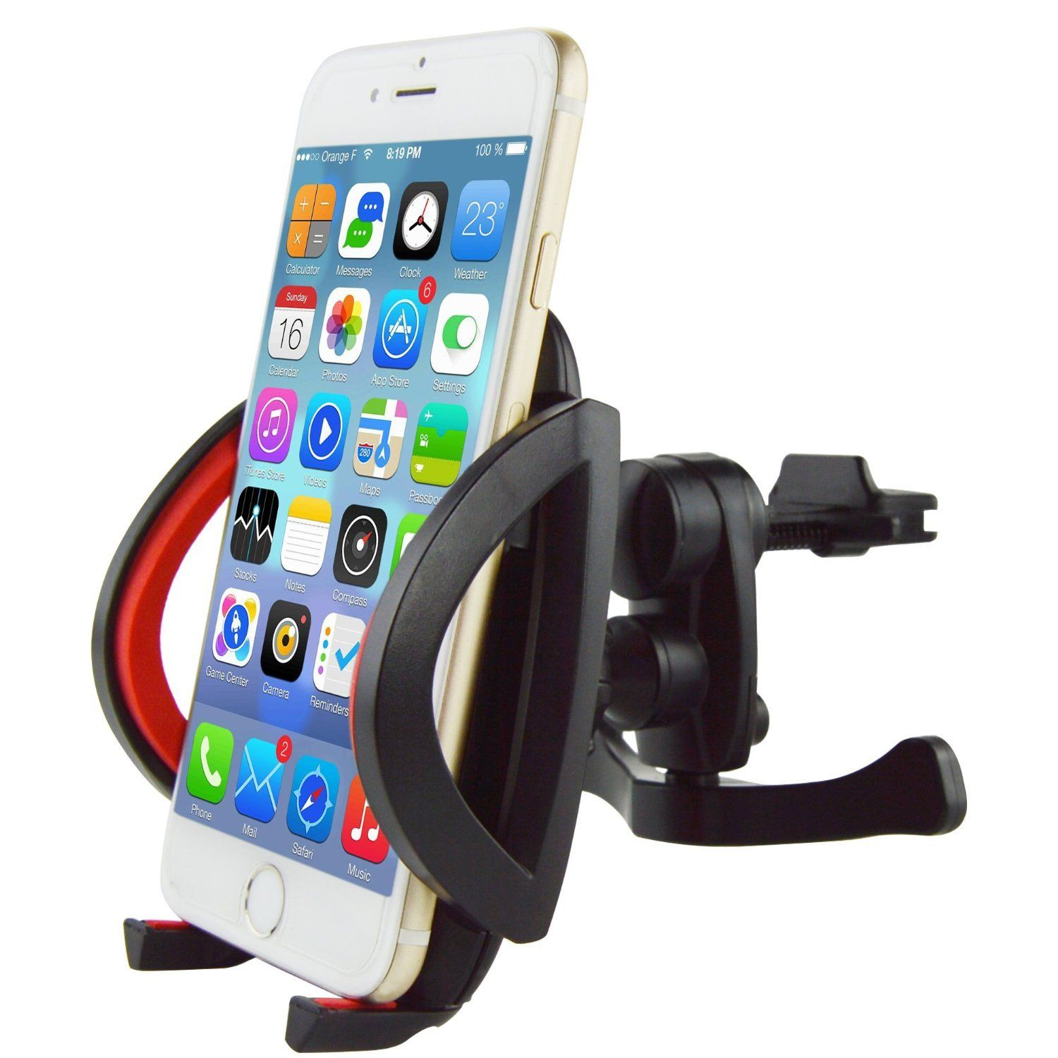 Car Vent Mount,IPOW Universal Cell Phone Car Air Vent Mount Holder Cradle For iPhone 6 6+ 6S 6S Plus 5S 5,iPod Touch,Samsung Galaxy S6 S6 Edge S5 S4 S3 Note 2/3