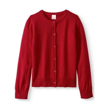 (Girls School Uniform Knit Cardigan)