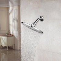 Gobestart 9'' Rainfall Shower Head Large Luxury Fixed Showerhead Made of Stainless Steel