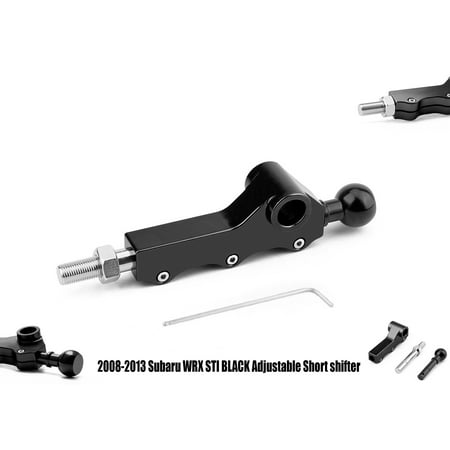 New Subaru WRX STI 2008-2013 Black Adjustable Short Height /Throw Shifter -