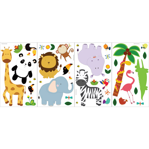 Blue Mountain Wallcoverings Sweet Safari Room Appliques