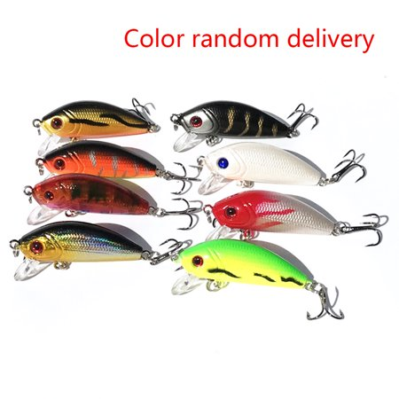 4cm/3.5g Hard Bait Fishing Lures with Hook Bass Fishing Gear Random Color
