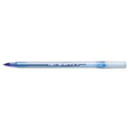 Bic America Gsm11 Be Round Stic Ballpoint Stick Pen  44  Blue Ink  44  Medium  44  Dozen