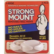 STRONG MOUNT Removeable Wall Hooks (Large)