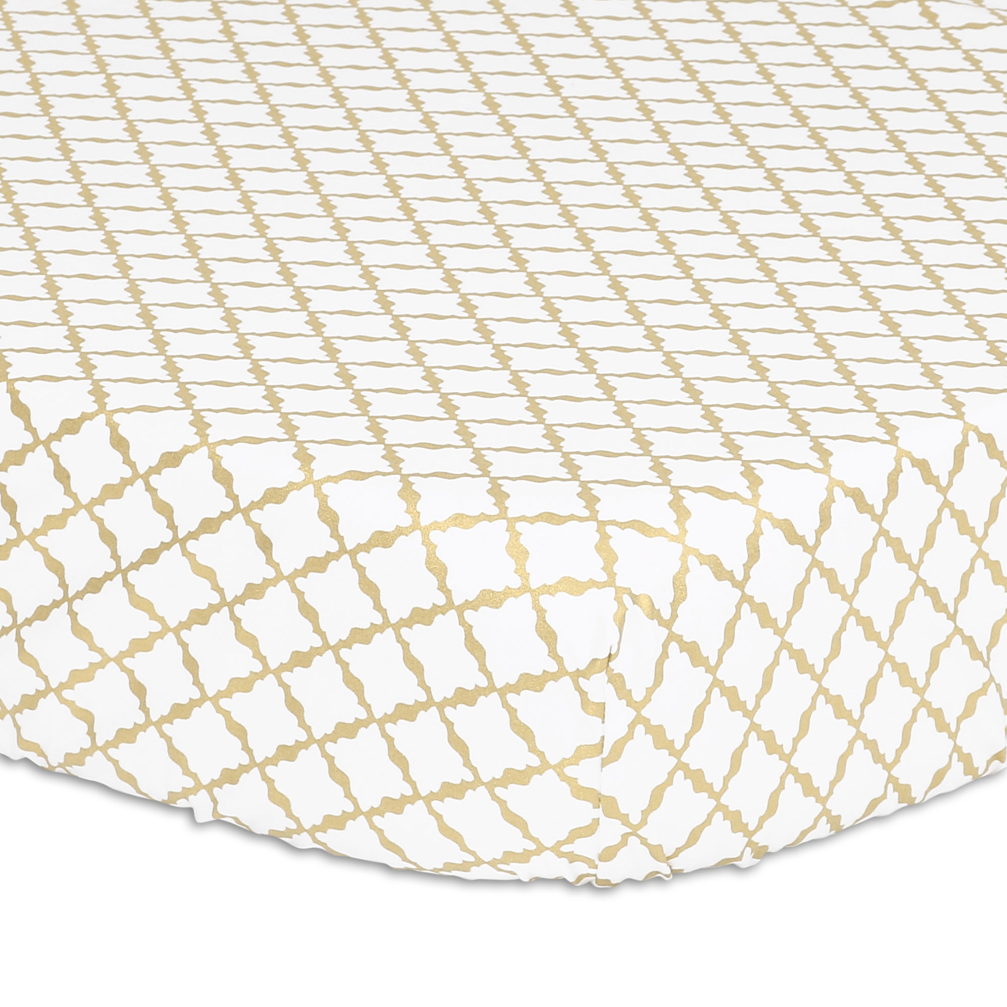 Gold Lattice Fitted Crib Sheet by The Peanut Shell