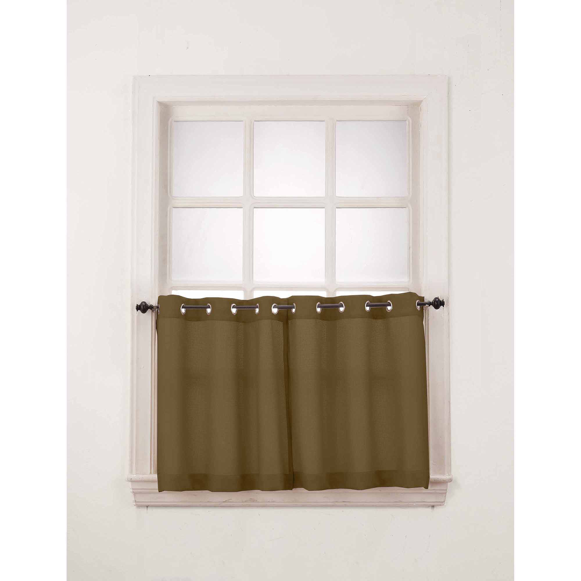 918 Montego Window Curtain Valance/Kitchen Curtains, Set Of 2   Walmart.com