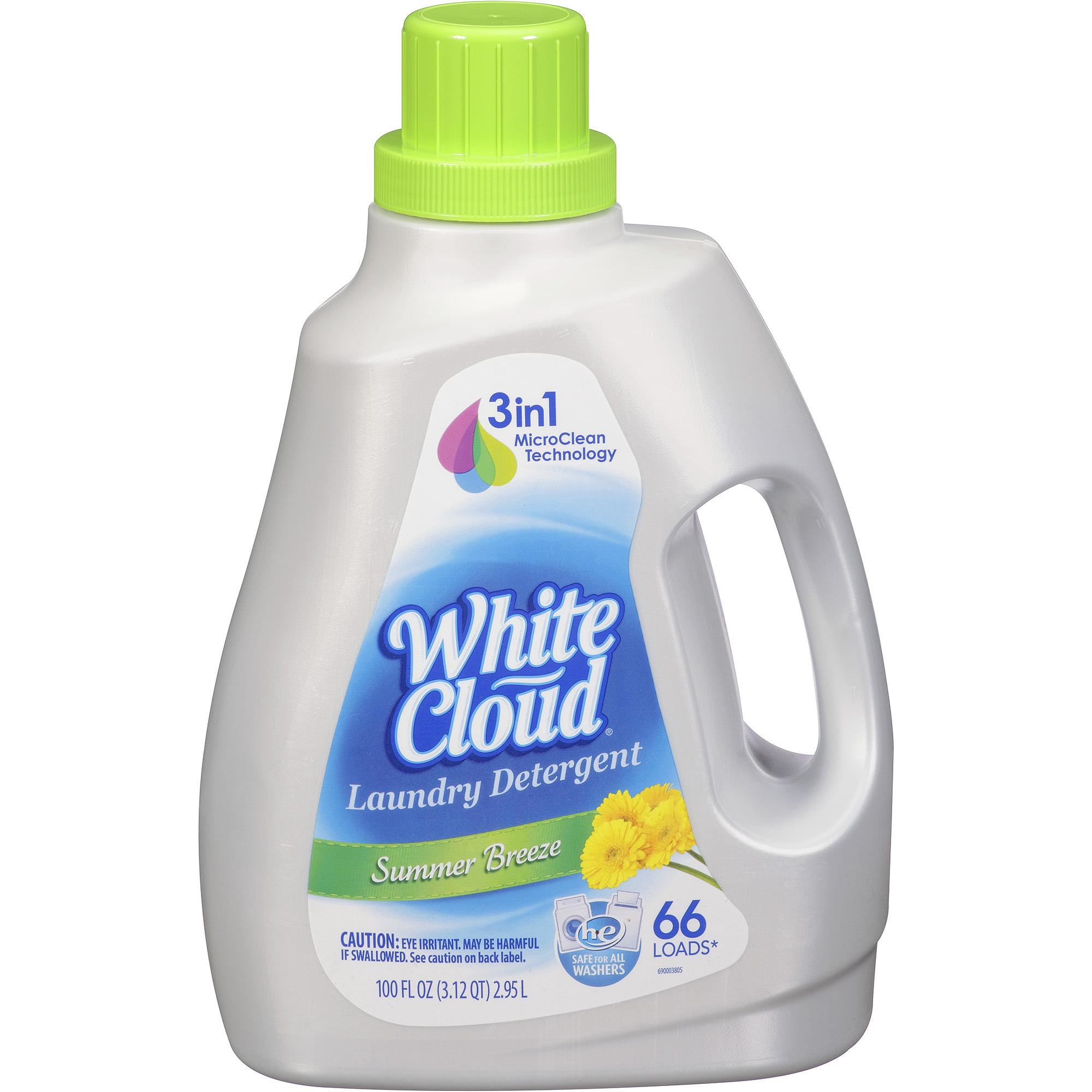 White Cloud Summer Breeze Liquid Laundry Detergent, 100 fl oz