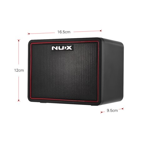 NUX Mighty Lite BT Mini Ampli guitare de bureau électrique 3W Amp 3 canaux Intégration des effets de reverb à retard 9 Patterns de batterie Métronome Tape Tempo - image 2 of 7