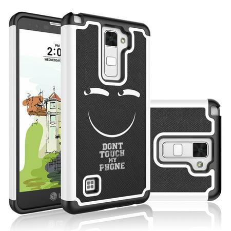 promo code cc47f 41da3 LG Stylus 2 Plus Case, LG Stylo 2 Plus Cute Case,[Funny emoji] Njjex Hybrid  Studded Rhinestone Retro Pattern Bling Crystal Rubber Plastic Protective ...