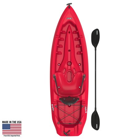 Lifetime Daylite 80 Sit-On-Top Kayak (Paddle Included), Red,