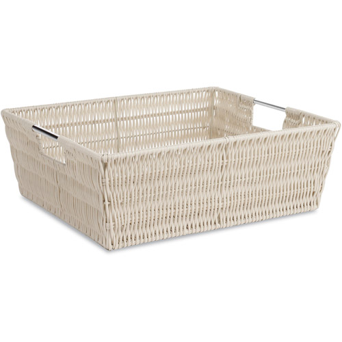 Whitmor Woven Strap Hamper with Liner Latte