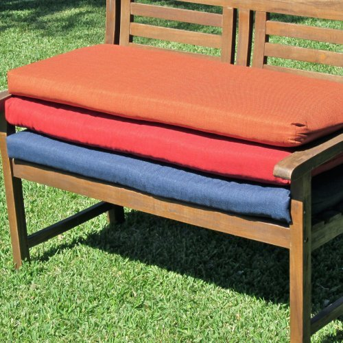 Blazing Needles Outdoor Standard Solid Patio Bench Cushion - 56 x 18 in.