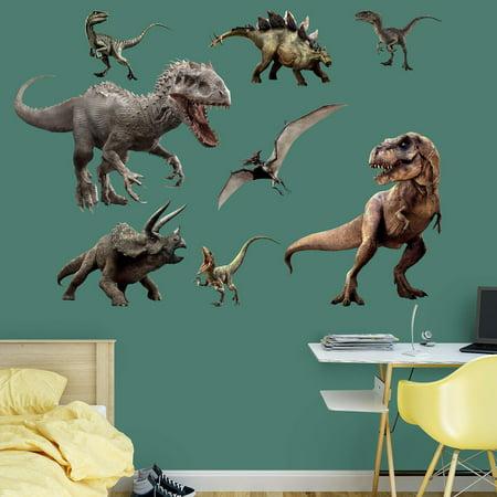 Fathead Jurassic World Dinosaurs Wall Decal Collection Walmartcom - Jurassic world wall decals