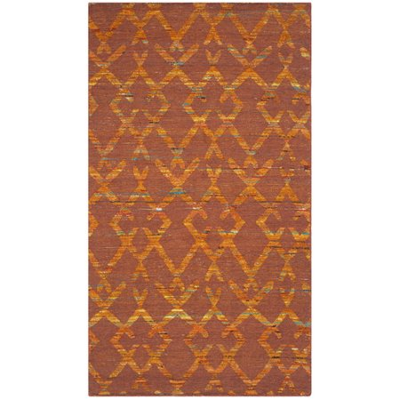 Safavieh Straw Patch Horgan Flat Woven Area Rug Or Runner Rust Gold