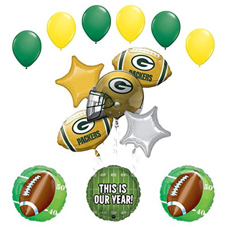 Mayflower Products Packers Football Party Supplies This is Our Year Balloon Bouquet Decoration (Packer Party Supplies)