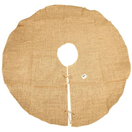 Natural Burlap Christmas Tree Skirt, Round, 60-Inch ()