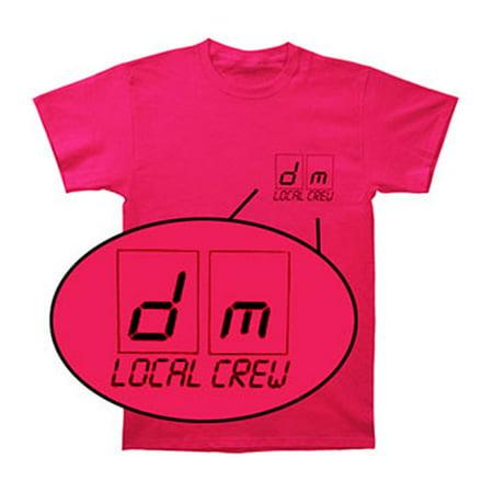 Depeche Mode Mens  Local Crew T Shirt Pink