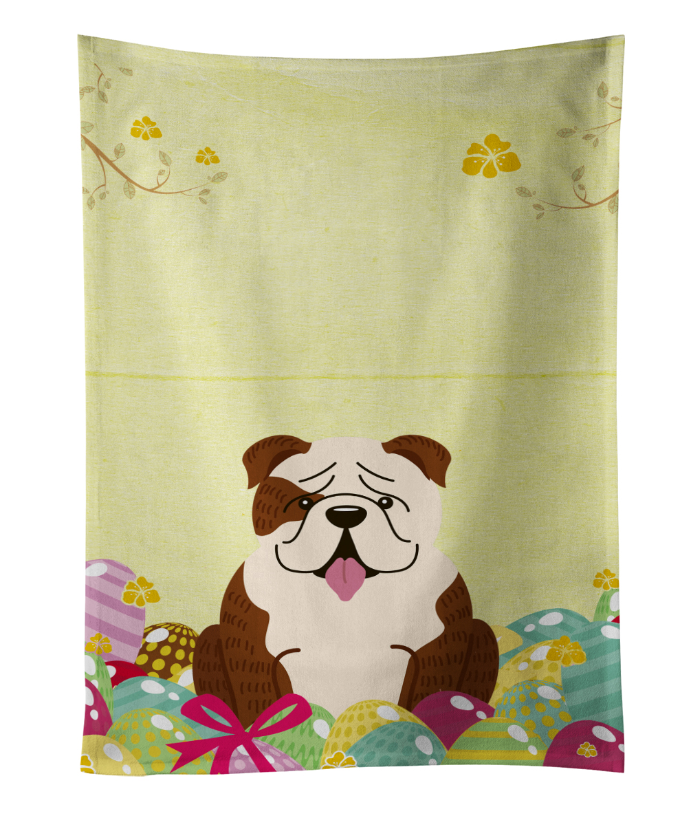 Easter Eggs English Bulldog Brindle White Kitchen Towel BB6121KTWL by Caroline's Treasures