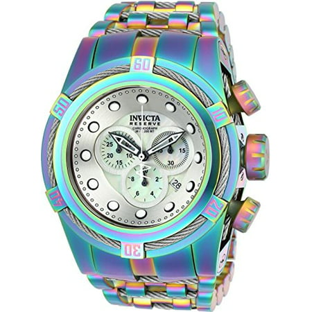 Reserve 52mm Bolt Zeus Swiss Quartz Chronograph Iridescent Stainless Steel Bracelet Watch (22840) ()