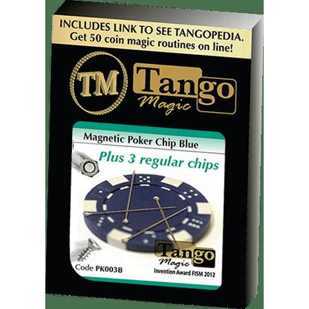 Magnetic Poker Chip Blue plus 3 regular chips (PK003B) by
