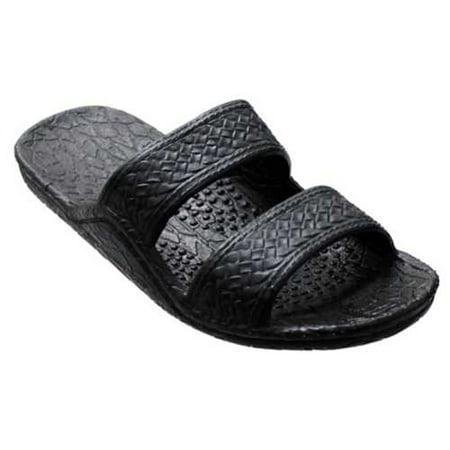 Womens Black Pali Hawaii Jesus Sandals Outlet Store Size 38