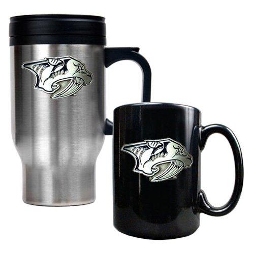 Great American NHL Logo Travel and Ceramic Mug Set