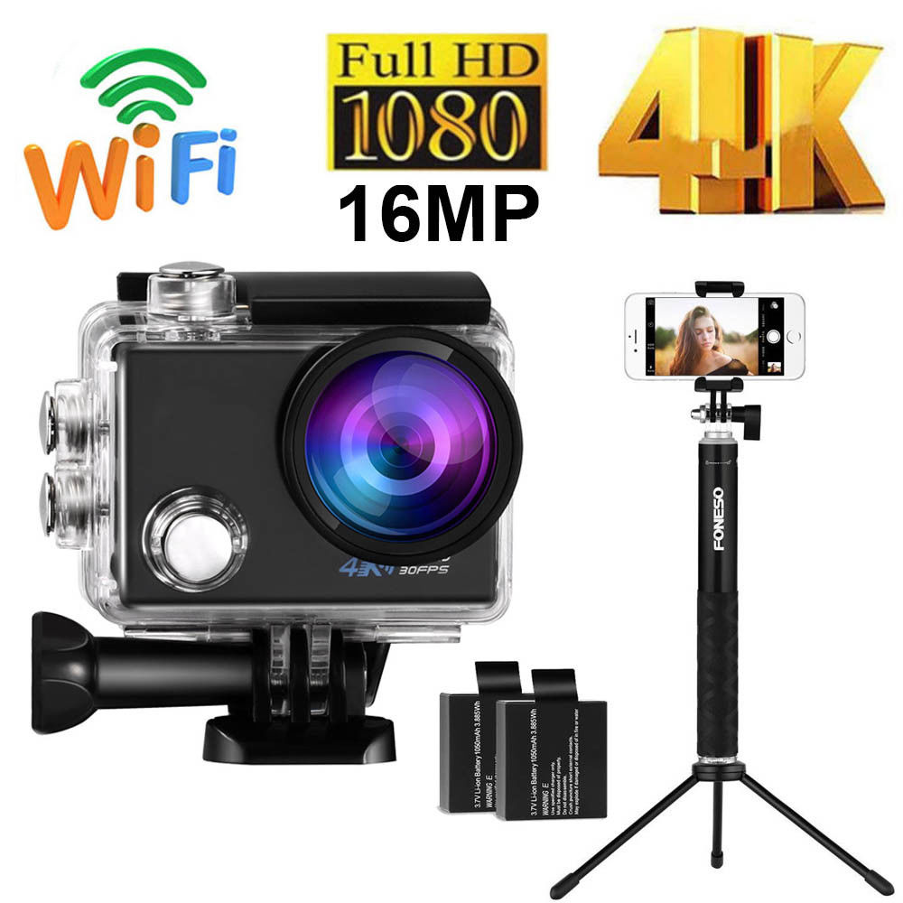 Ultra 4K Full HD 1080P Waterproof Sport Action Camera Kit...