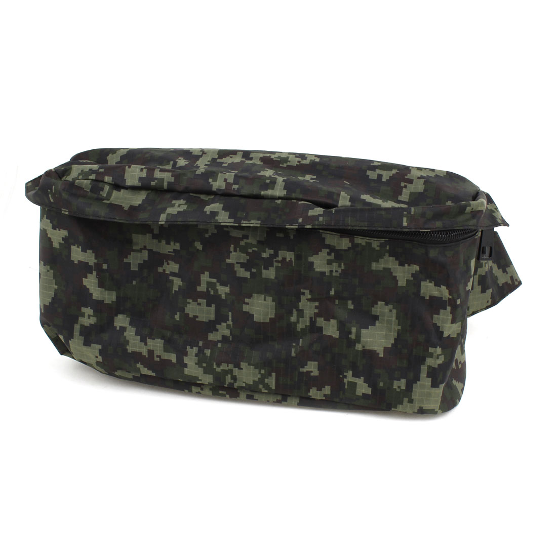Men Camouflage Print Zip up Pocket Adjustable Strap Waist Bag Pack