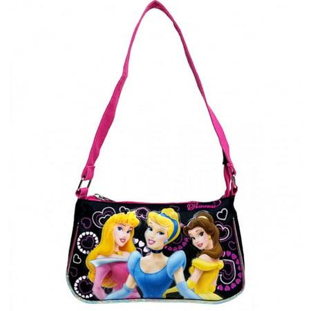 Handbag - Disney - Princess - 3 Princess Black New Hand Bag Purse Girls 31035