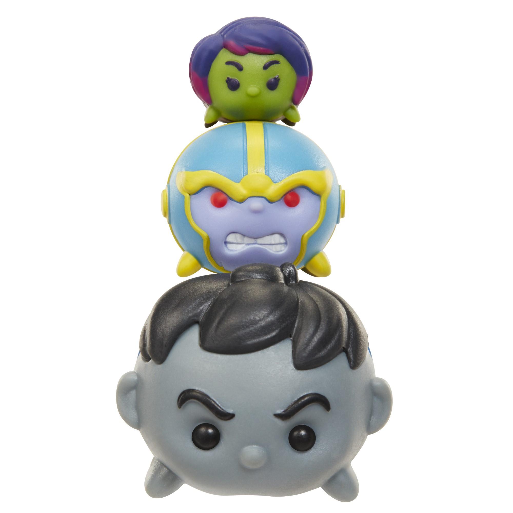 Marvel Tsum Tsum 3-Pack Figures - Hulk (Grey)/Thanos/Gamora