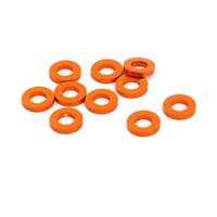 10pcs 1mm Thickness M3 Aluminum Alloy Flat Fender Screw Washer Orange